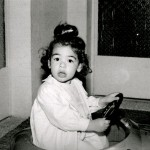 Reema, as an enthusiastic young driver - ReemaFaris.com