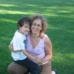 Reema, with her son at Ecole Cedardale - ReemaFaris.com