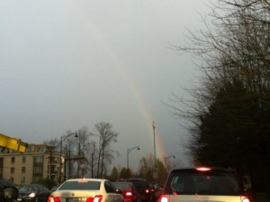 Rainbow on a rainy day - ReemaFaris.com