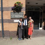 Reema and her son, with her nephew, the Graduate, in Bradford, England - ReemaFaris.com