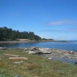 Reema captures a beach side view of the beautiful Hornby Island landscape - © ReemaFaris.com