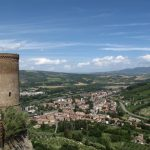 Reema captures the panoramic view of the Tuscan landscape from the ramparts of Orvieto - © ReemaFaris.com