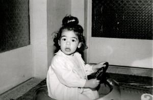 Reema, as an enthusiastic young driver - © ReemaFaris.com