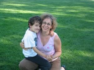 Reema, with her son at Ecole Cedardale - © ReemaFaris.com
