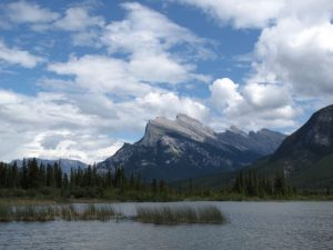 Reema captures a majestic view of the mountains around Banff in the Canadian Rockies - © ReemaFaris.com