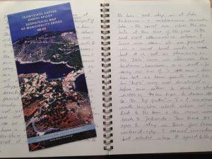 Reema shares a photo of her mother's handwriting script taken from a travel journal - © ReemaFaris.com