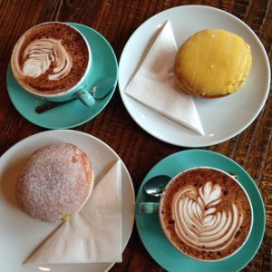 Reema's picture of donuts and hot chocolate at Vancouver's 49th Parallel on Main Street - © ReemaFaris.com