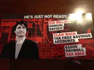Reema scans in the side of the direct mail piece attacking the Liberal Party of Canada.