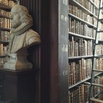 Books and more books - a detail from the Trinity College Library in Dublin.