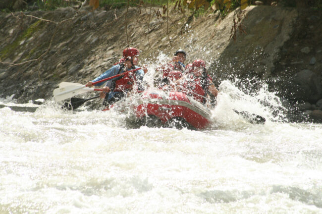 Reema shares an image of a craft in white water river rapids.